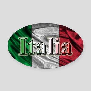 Italian Flag Graphic Oval Car Magnet