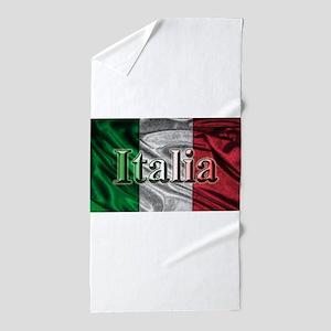Italian Flag Graphic Beach Towel