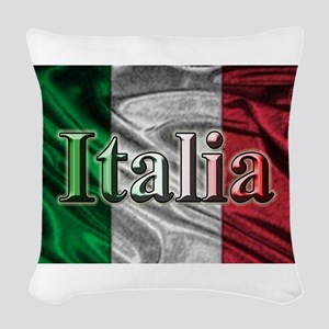 Italian Flag Graphic Woven Throw Pillow