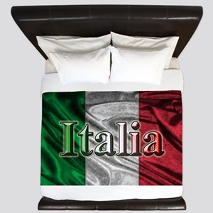 Italian Flag Graphic King Duvet