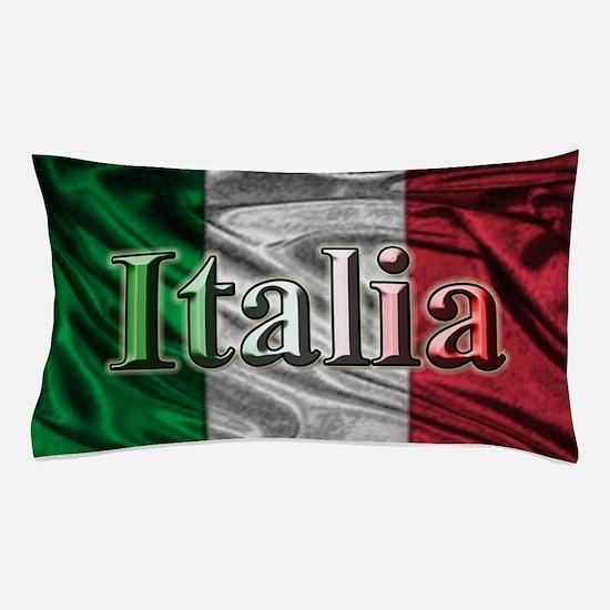 Italian Flag Graphic Pillow Case