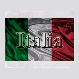 Italian Flag Graphic Throw Blanket