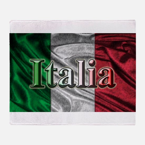 Italian Flag Graphic Throw Blanket