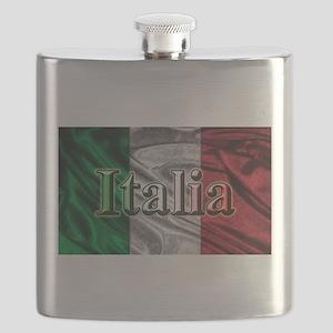 Italian Flag Graphic Flask
