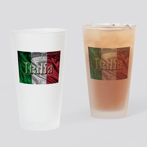 Italian Flag Graphic Drinking Glass