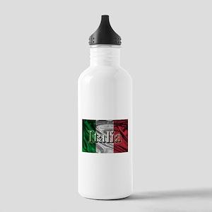 Italian Flag Graphic Water Bottle