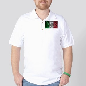Italian Flag Graphic Golf Shirt