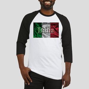 Italian Flag Graphic Baseball Jersey