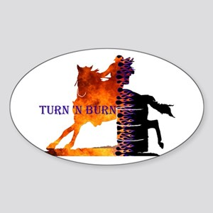 Turn 'n Burn Oval Sticker