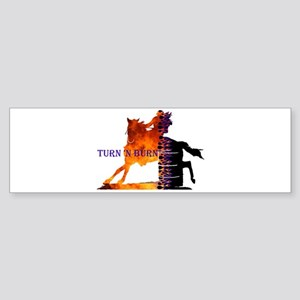 Turn 'n Burn Bumper Sticker