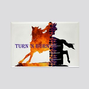 Turn 'n Burn Rectangle Magnet