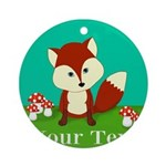 Personalizable Woodland Fox Ornament (Round)