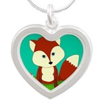 Personalizable Woodland Fox Necklaces