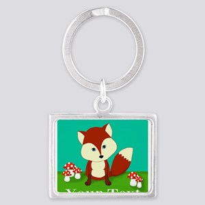 Personalizable Woodland Fox Keychains