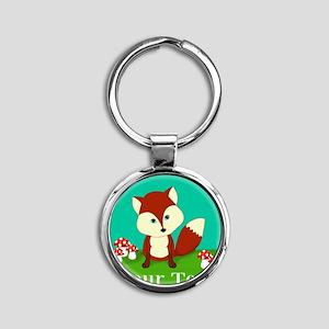 Personalizable Woodland Fox Keychains