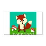 Personalizable Woodland Fox Rectangle Car Magnet