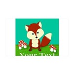 Personalizable Woodland Fox Wall Decal