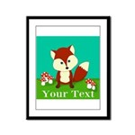Personalizable Woodland Fox Framed Panel Print