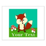 Personalizable Woodland Fox Posters