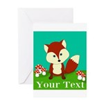 Personalizable Woodland Fox Greeting Cards