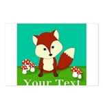 Personalizable Woodland Fox Postcards (Package of