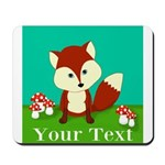 Personalizable Woodland Fox Mousepad