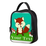 Personalizable Woodland Fox Neoprene Lunch Bag