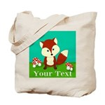 Personalizable Woodland Fox Tote Bag