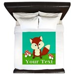 Personalizable Woodland Fox King Duvet