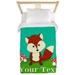 Personalizable Woodland Fox Twin Duvet