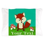 Personalizable Woodland Fox Pillow Case