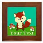Personalizable Woodland Fox Framed Tile