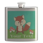 Personalizable Woodland Fox Flask