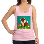 Personalizable Woodland Fox Racerback Tank Top