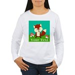 Personalizable Woodland Fox Long Sleeve T-Shirt