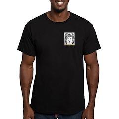 Jahncke Men's Fitted T-Shirt (dark)