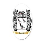 Jahncke Oval Car Magnet