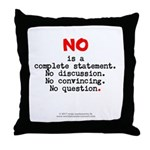 No, complete statement lg.red - Throw Pillow