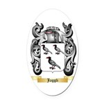 Jaggli Oval Car Magnet