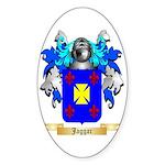 Jaggar Sticker (Oval 50 pk)