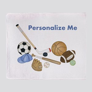 Personalized Sports Throw Blanket