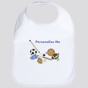 Personalized Sports Baby Bib
