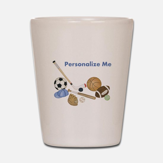 Personalized Sports Shot Glass