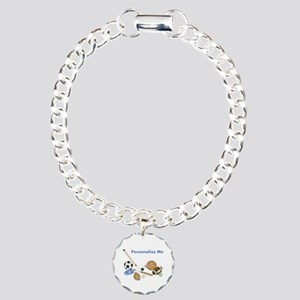 Personalized Sports Charm Bracelet, One Charm