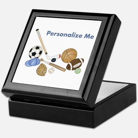 Personalized Sports Keepsake Box