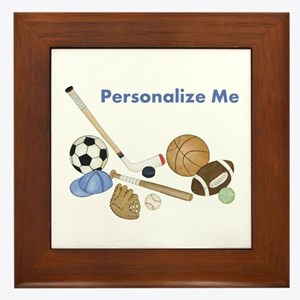 Personalized Sports Framed Tile