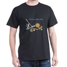 Personalized Sports Dark T-Shirt