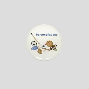 Personalized Sports Mini Button