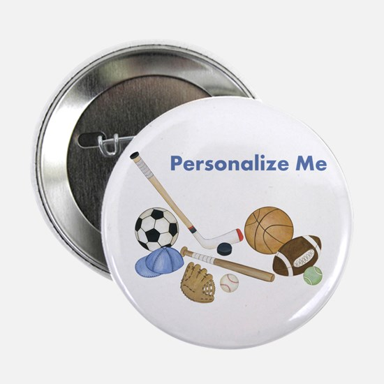 "Personalized Sports 2.25"" Button"