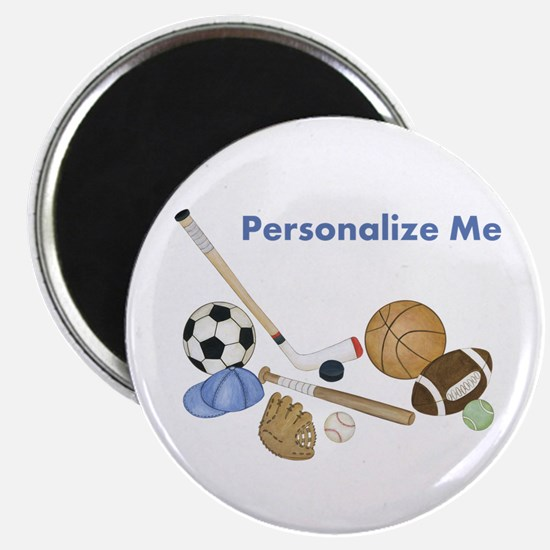 """Personalized Sports 2.25"""" Magnet (10 pack)"""